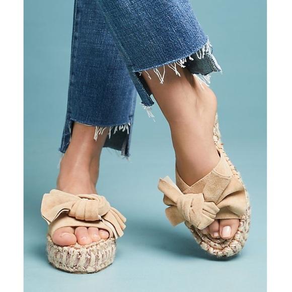 573595a78dd8 J SLIDES Ritsy Espadrille Suede Bow Slide Sandals